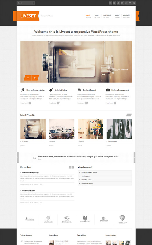 Liveset WordPress Business Theme