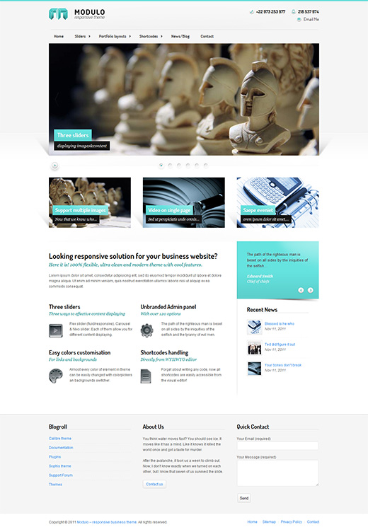 Modulo WordPress Business Theme