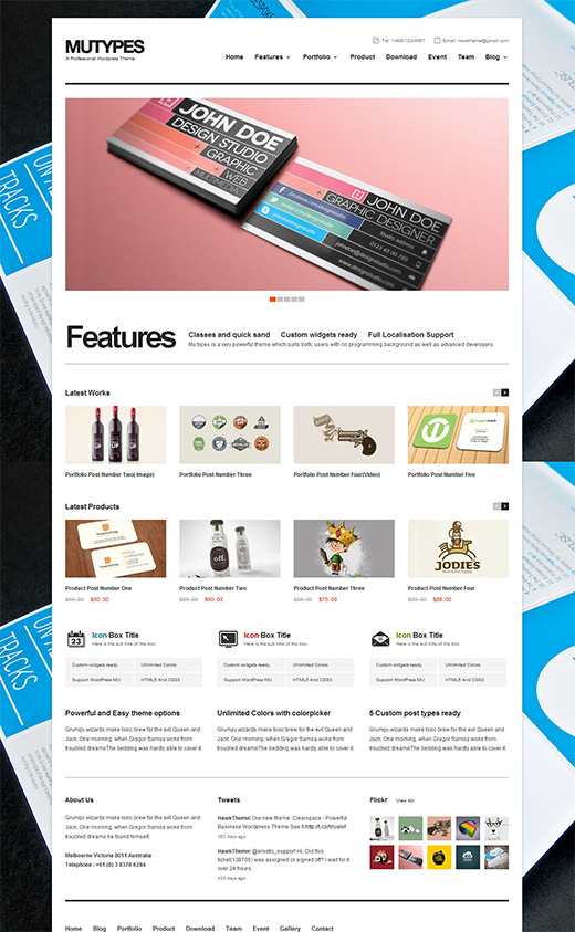Mutypes WordPress Business Theme