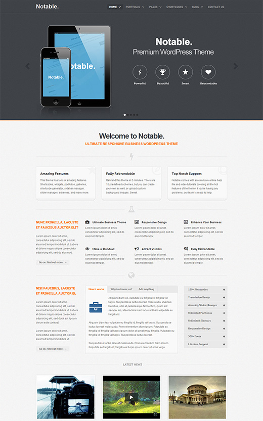 Notable WordPress Business-Theme