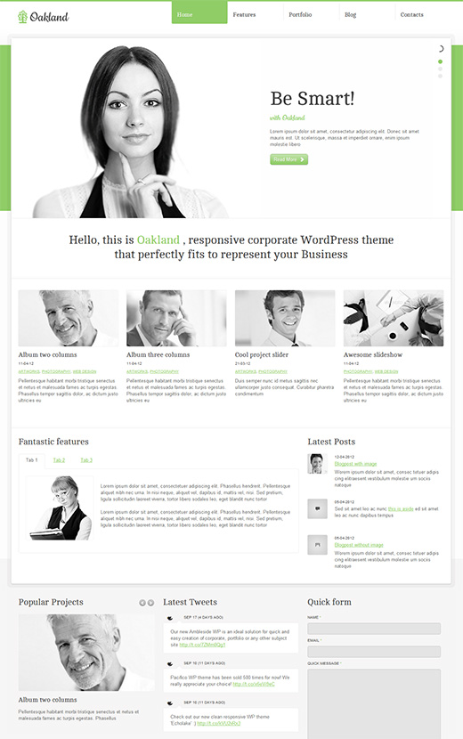 Oakland WordPress Business Theme