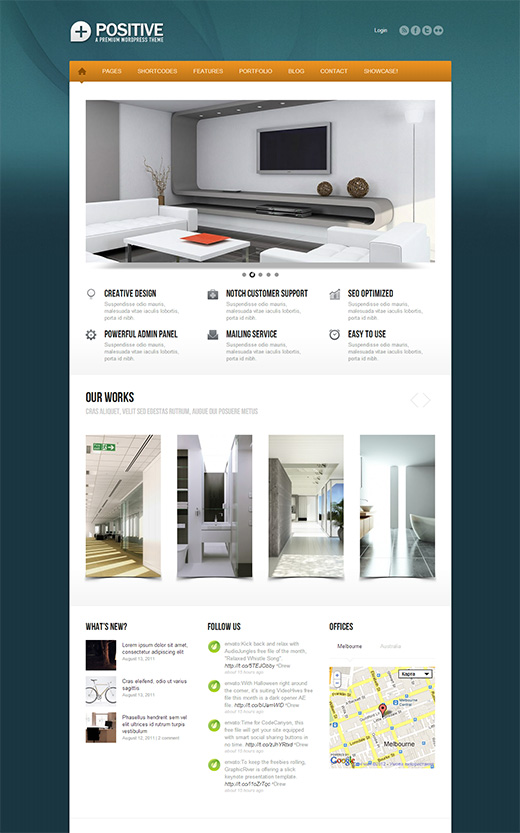 Positive WordPress Business Theme