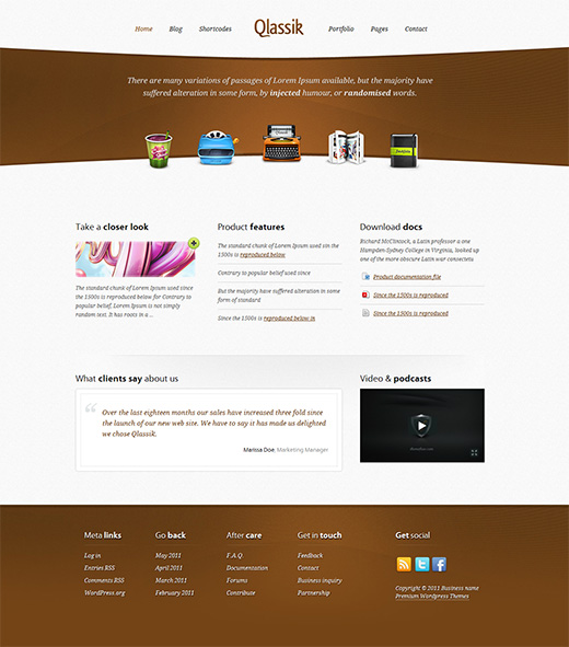 Qlassik Business WordPress Theme