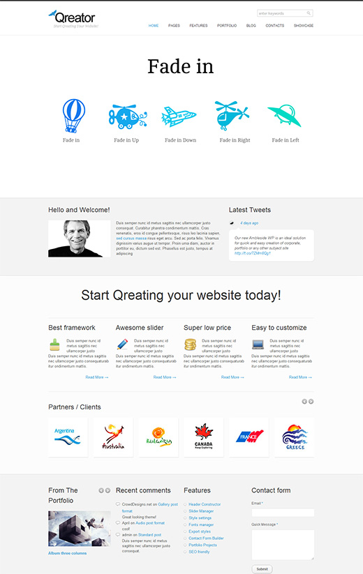 Qreator Business WordPress Theme