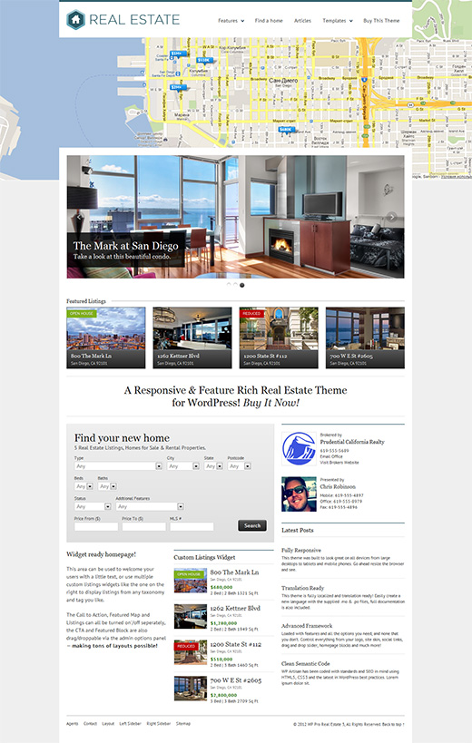 Real Estate WordPress Business Theme