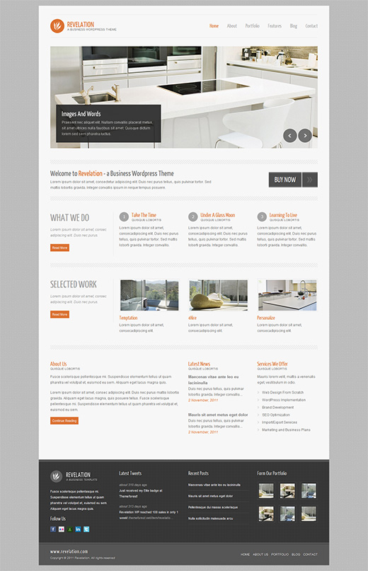 Revelation WordPress Business Theme