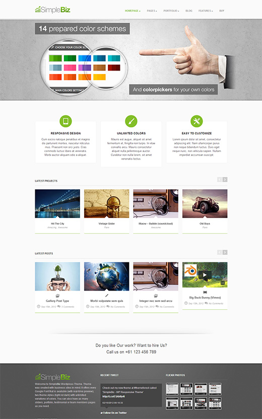 Simple Biz WordPress Business Theme