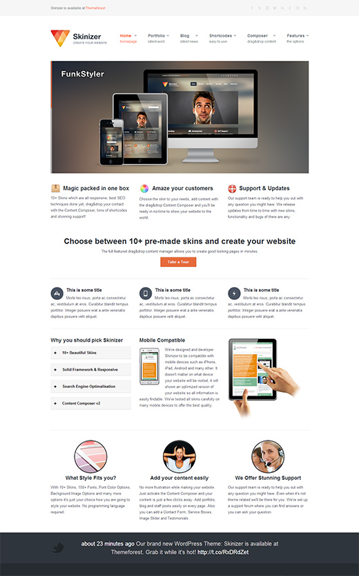 Skinizer WordPress Business Theme