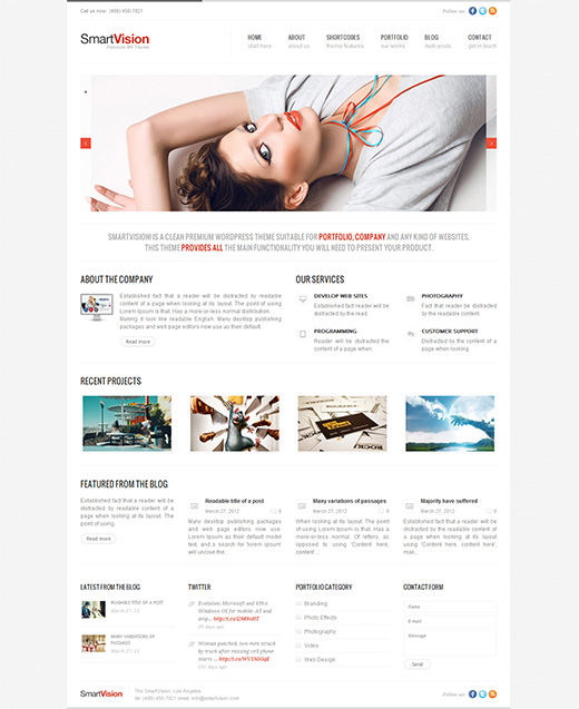 Smart Vision WordPress Business Theme