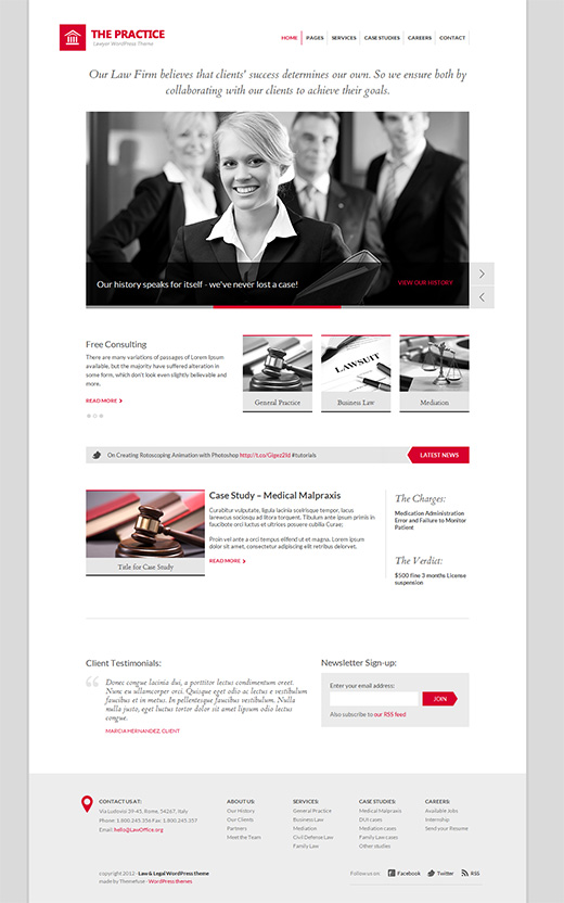The Practice Business WordPress Theme