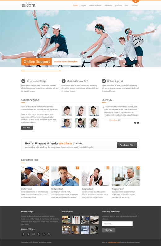 Eudora WordPress Corporate Theme