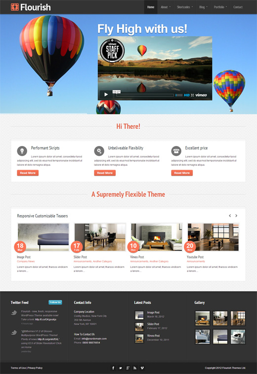 Flourish Corporate WordPress Themes