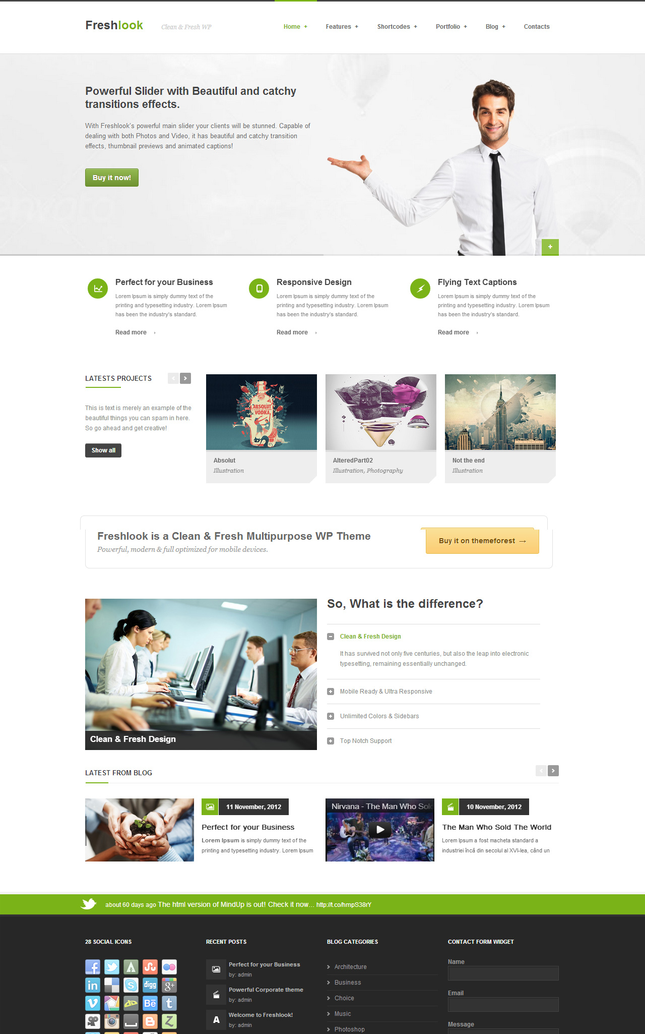 FreshLook Corporate WordPress Theme