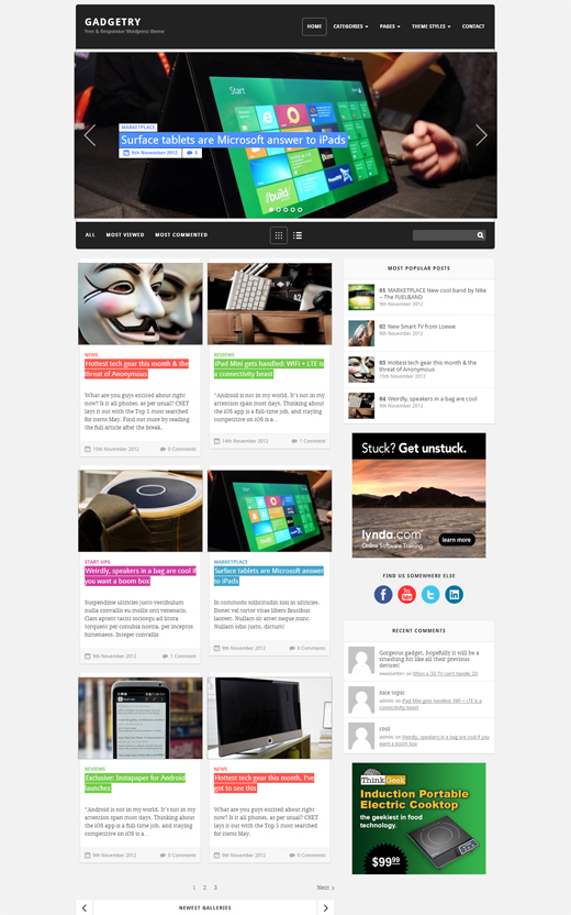 Gadgetry Corporate WordPress Theme