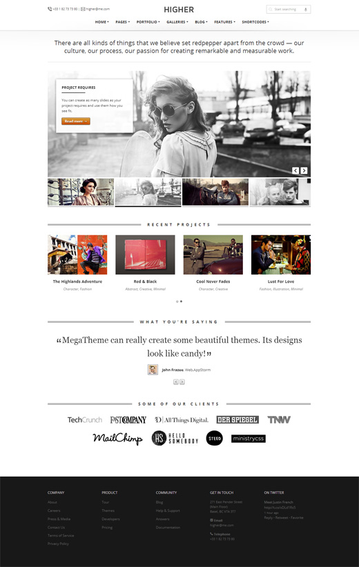 Higher WordPress Corporate Theme