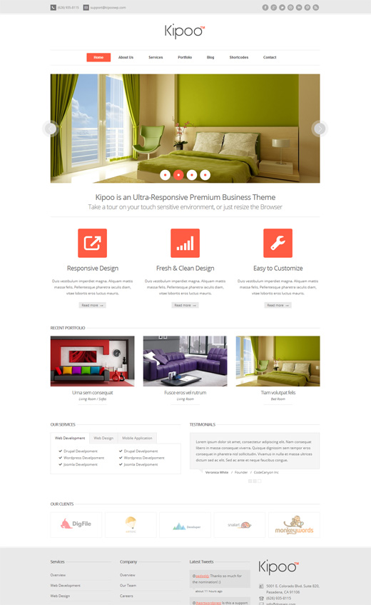 Kipoo Corporate WordPress Themes