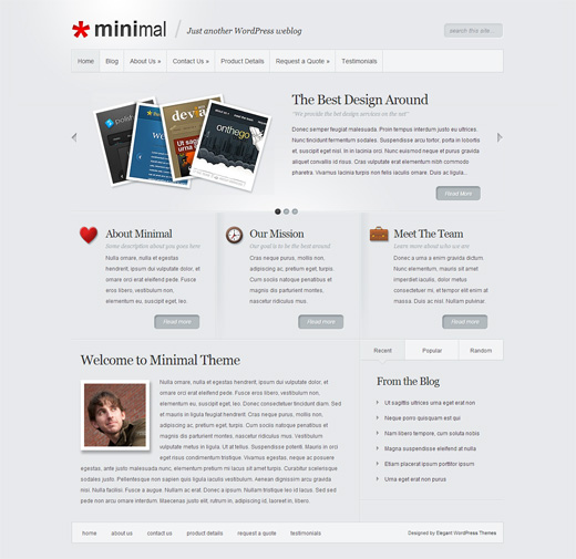 Minimal WordPress Corporate Theme