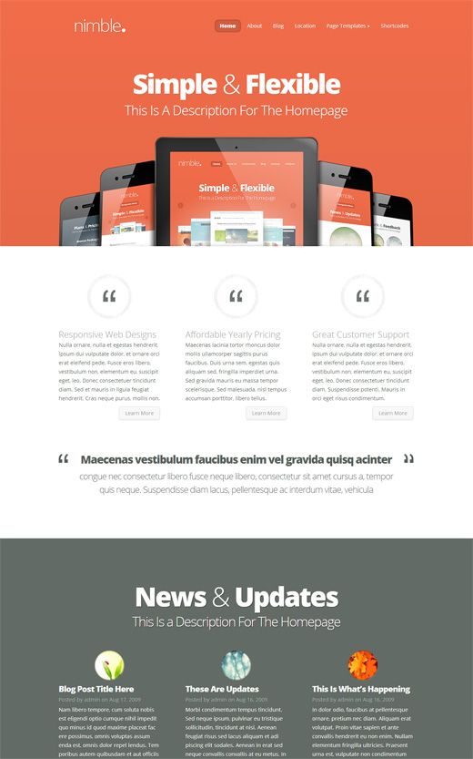 Nimble WordPress Corporate Theme
