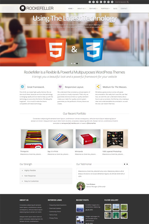 Rockefeller Corporate WordPress Theme