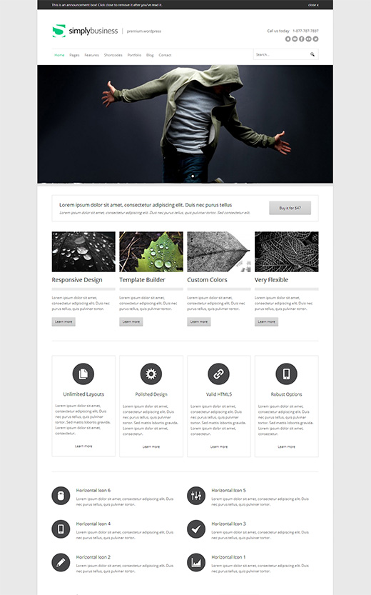 Simply Business Corporate WordPress Theme