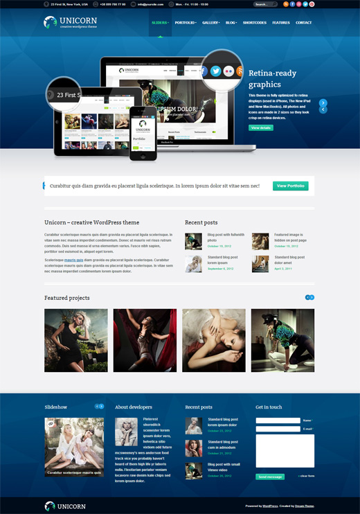 Unicorn Corporate WordPress Theme