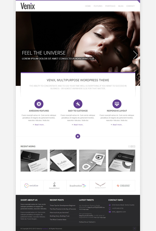 Venix Corporate WordPress Theme
