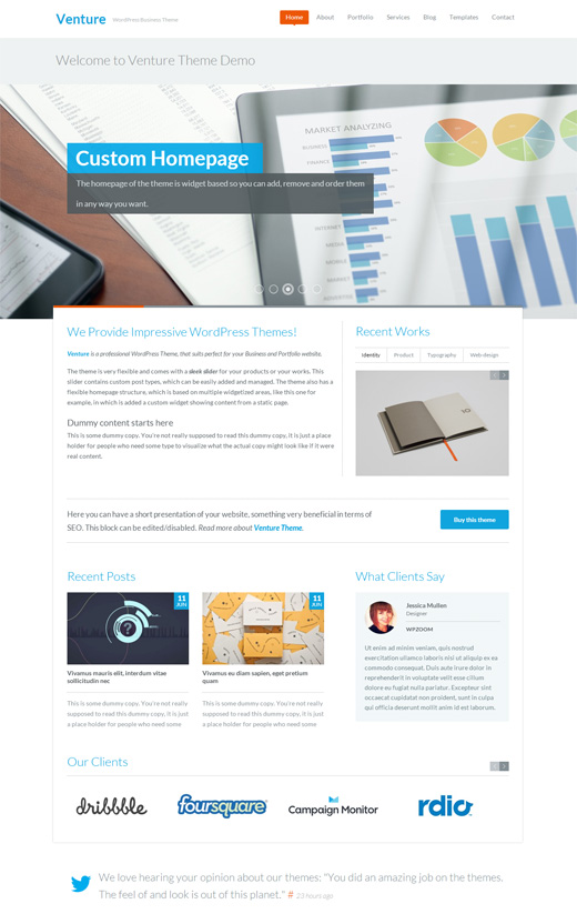 Venture Corporate WordPress Theme