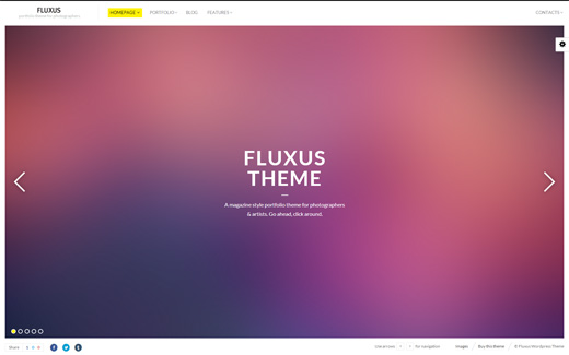Fluxus Photography Portfolio WordPress Theme