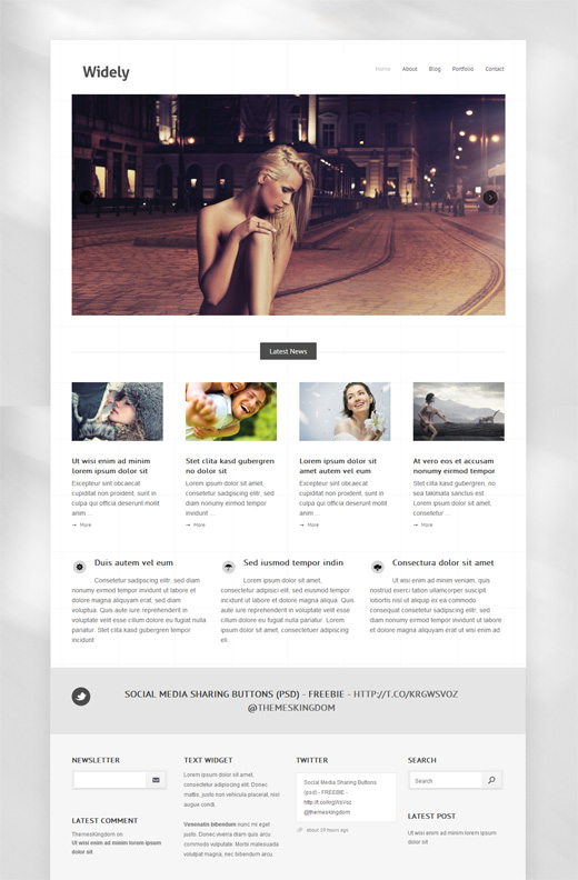 Widely Photography Portfolio WordPress Theme