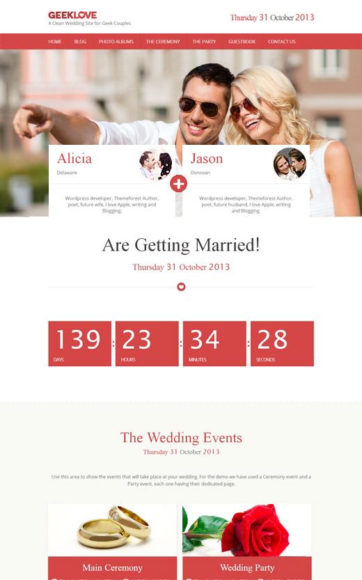 GeekLove-Wedding-WordPress-Theme
