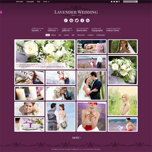 Lavender-Photography-Wedding-WordPress-Theme