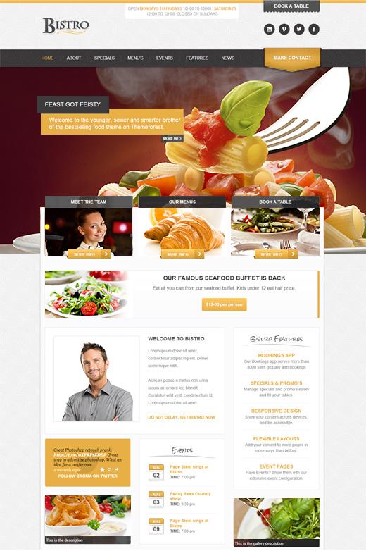 Bistro-Responsive-Foodie-App-theme