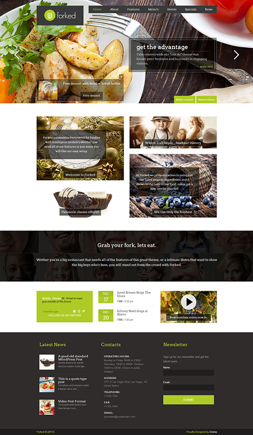 Forked-Responsive-Restaurant-Events-Theme