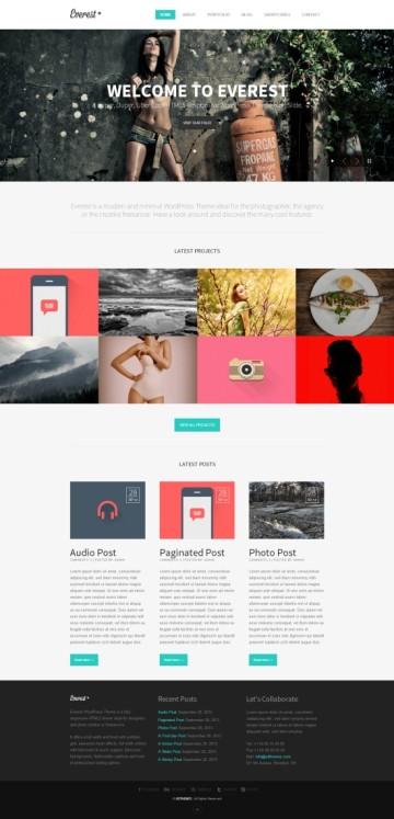 Everest - Responsive Portfolio WordPress Theme-Preview