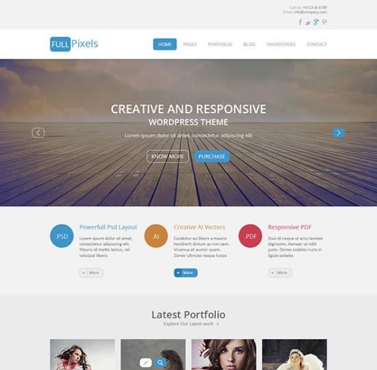 FullPixels – Creative PSD Template