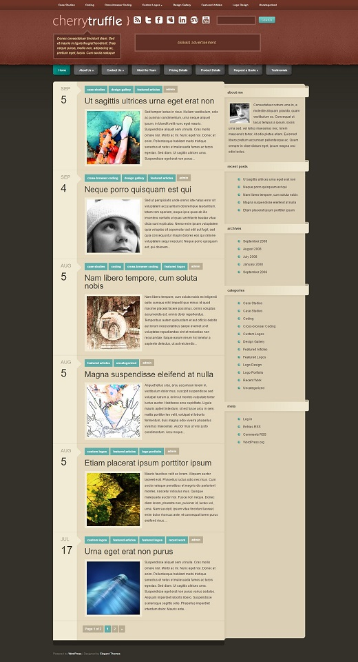 CherryTruffle WordPress Theme