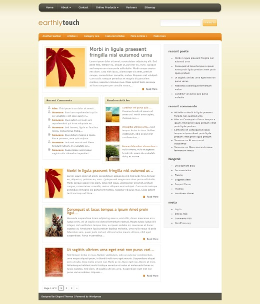 EarthlyTouch WordPress Theme