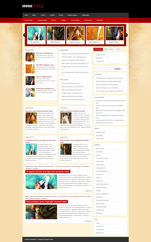 GrungeMag WordPress Theme