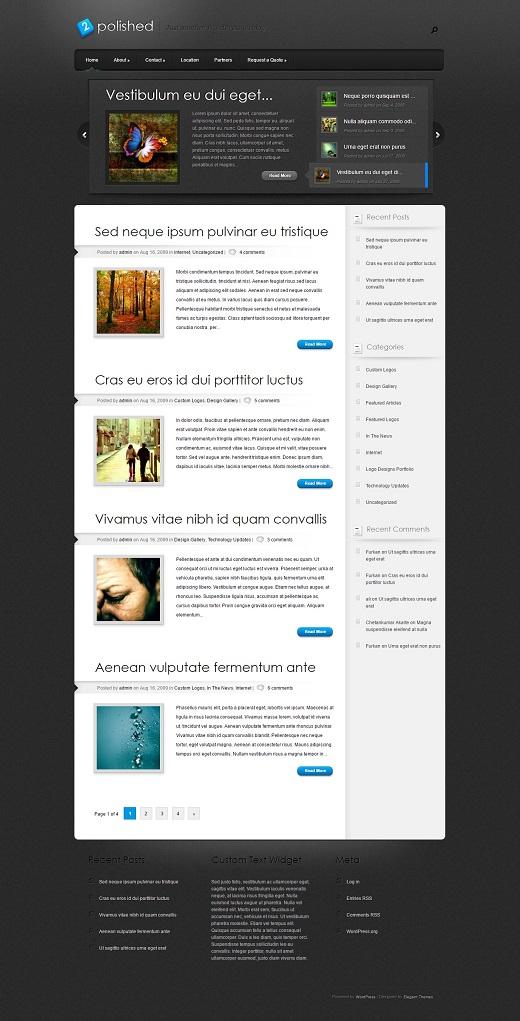 Polished WordPress Theme