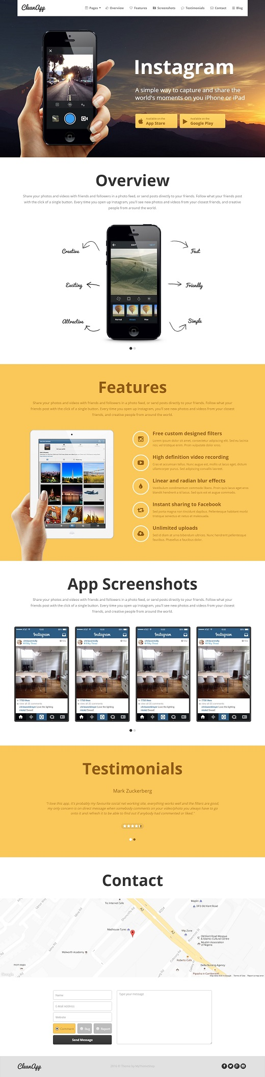 CleanApp WordPress Theme