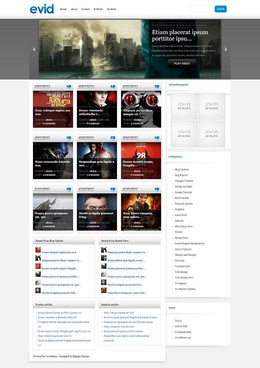 eVid WordPress Theme