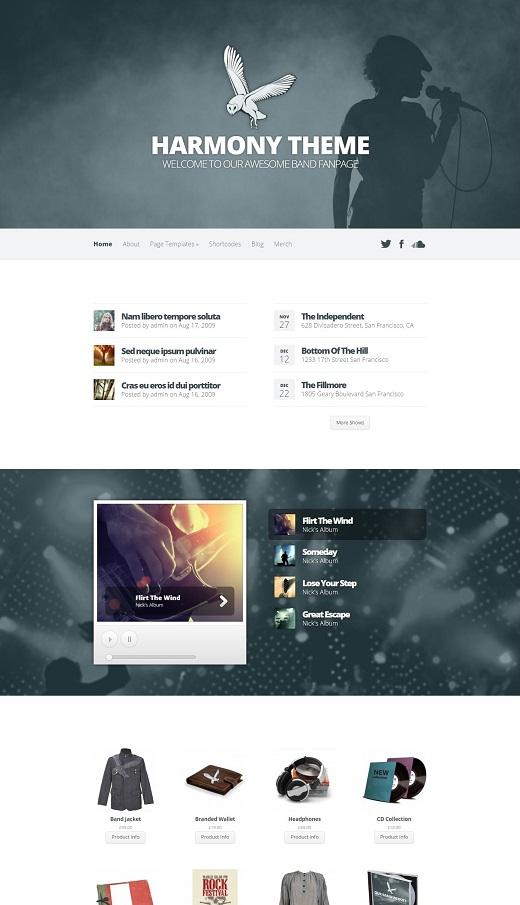 Harmony Band WordPress Theme