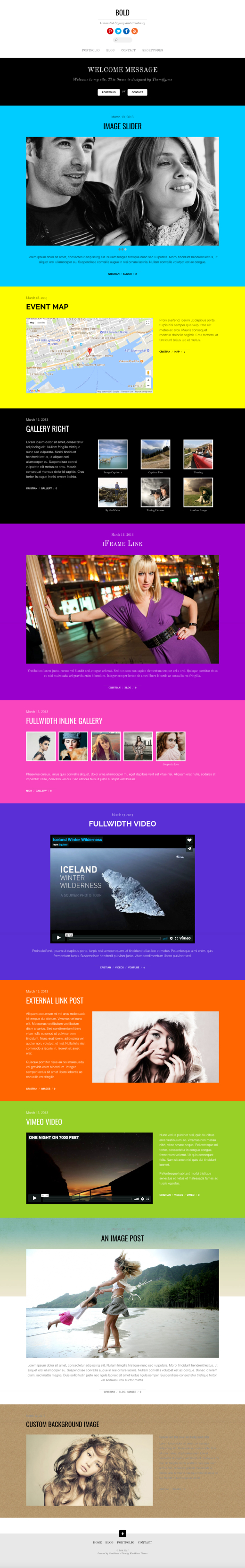 Bold - Stylish Blog and Portfolio Theme