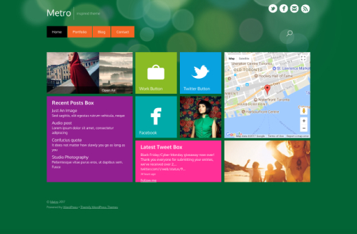 Metro - Windows 8 Metro WordPress Theme