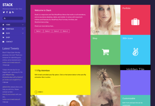 Stack - WordPress Theme for Creating Metro Layouts