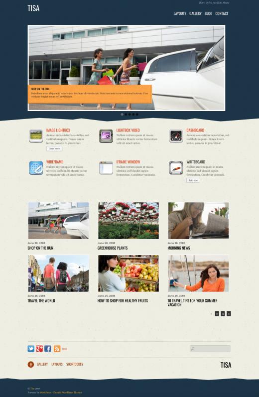 Tisa - Retro-style Responsive Portfolio Theme by Themify