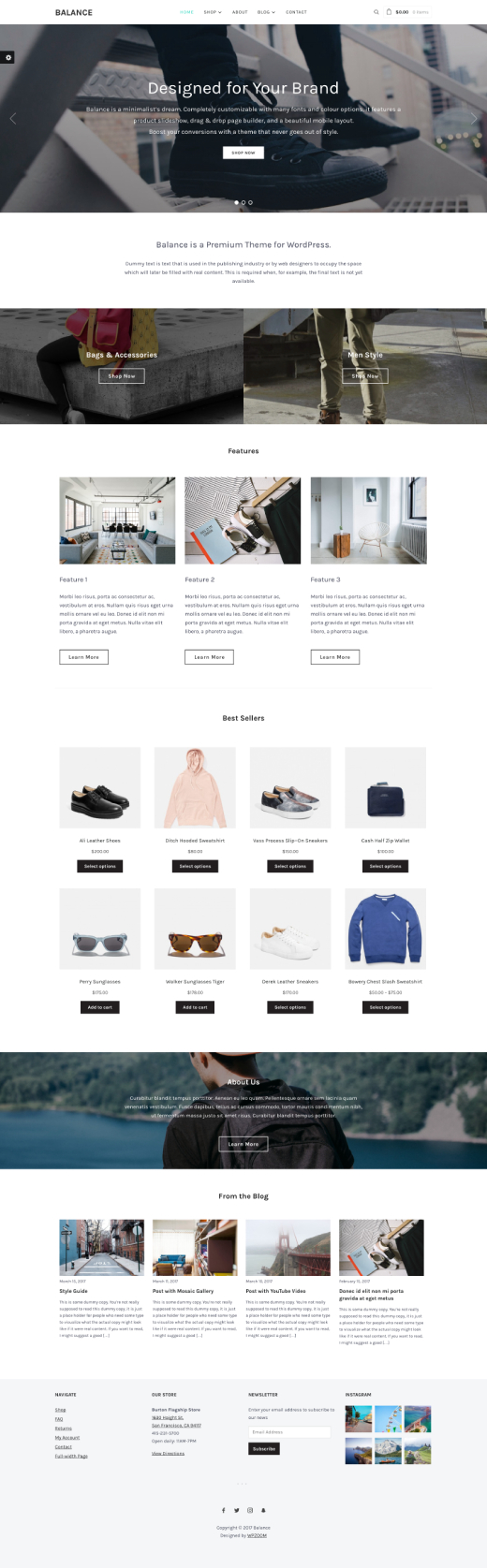 Balance • Minimalist WooCommerce WordPress Theme – WPZOOM