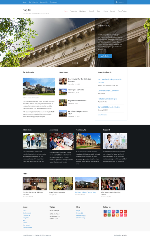 Capital • best education WordPress theme – WPZOOM