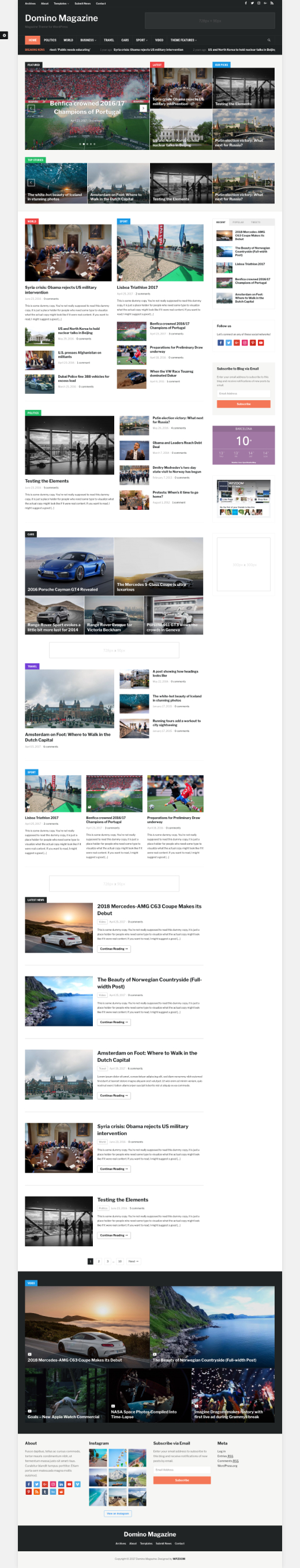 Domino Magazine • best magazine WordPress theme – WPZOOM