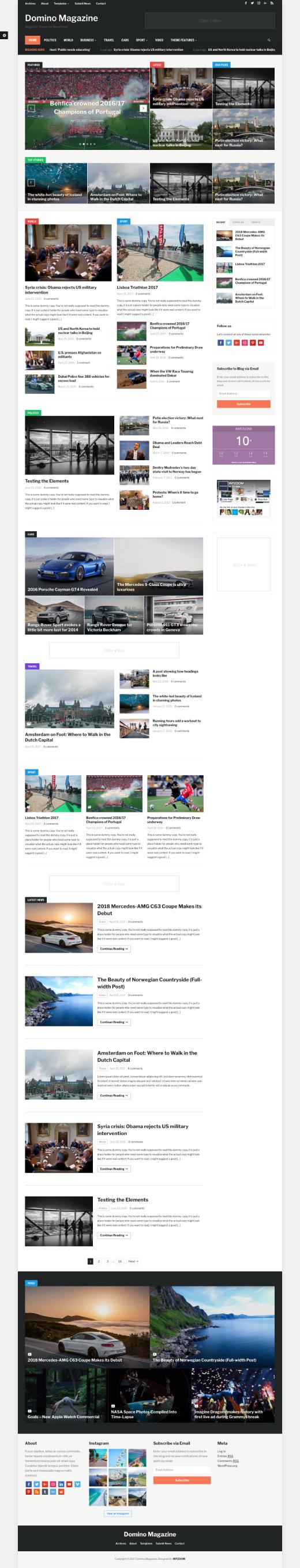 Domino Magazine • best magazine WordPress theme – WPZOOM